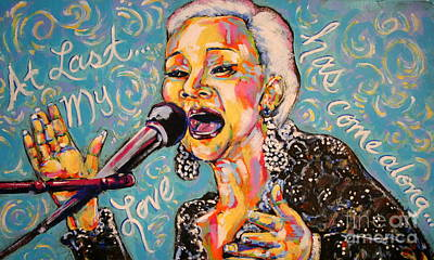 Etta James Painting - At Last.... by Tami Curtis
