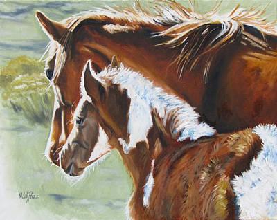 Melody Perez Painting - At Mamas Side by Melody Perez