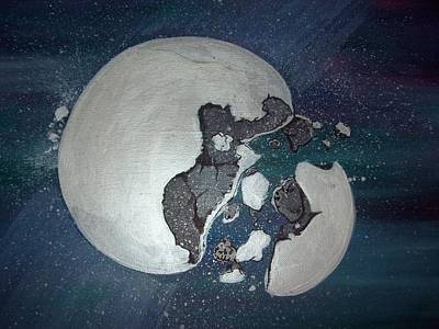 Outer Space Painting - At Moons End by Gerard Provost