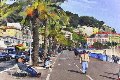 Old Town Digital Art - at Nice by Yury Malkov