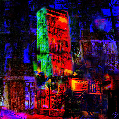 Pop Art Photograph - At Night by Barbs Popart