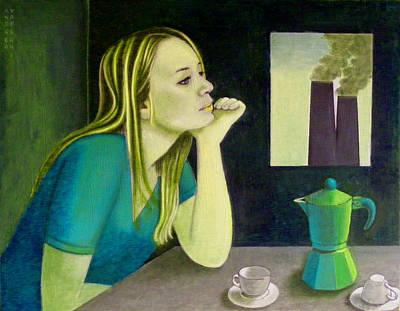 Inverted Painting - At Nightfall by Andrea Vandoni
