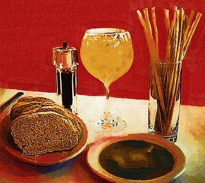 At Our Italian Restaurant Art Print by RC deWinter