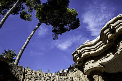 Antoni Gaudi Wall Art - Photograph - At Parc Guell In Barcelona - Spain by Madeline Ellis
