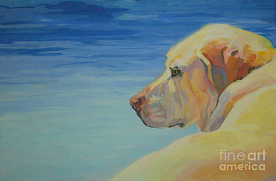 Yellow Labrador Retriever Painting - At Peace by Kimberly Santini