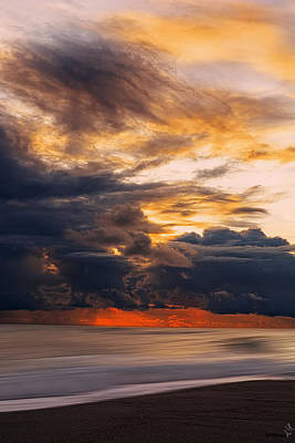 Abstract Seascape Photograph - At Peace by Lourry Legarde