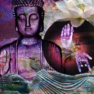 Digital Art - At Peace by M Montoya Alicea