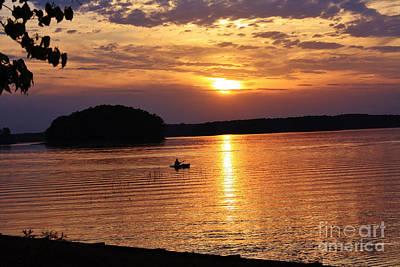 At Peace On The Lake Art Print