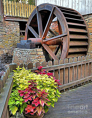 Photograph - At Plimoth Grist Mill by Janice Drew