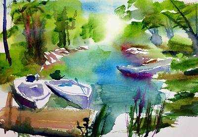 Painting - At Rest by J Worthington Watercolors