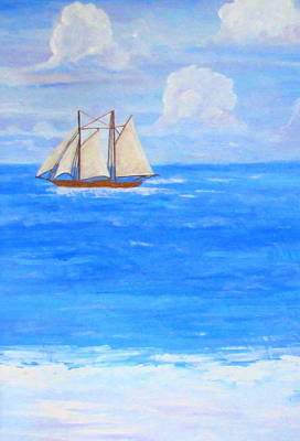 Painting - At Sea by Ashley Goforth