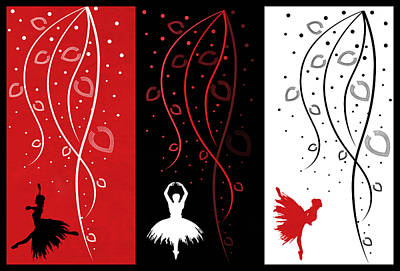 At The Ballet Triptych 1 Art Print
