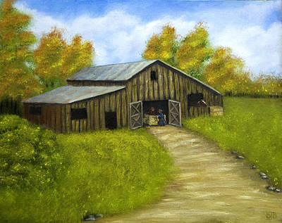 Painting - At The Barn by Barbara J Blaisdell