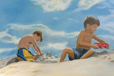 Summer Fun Painting - At The Beach by Bryan Ory