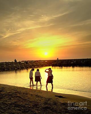 Japan Photograph - Niigata Beach Sunset by C Sakura