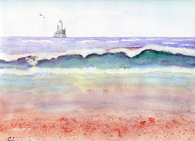 Painting - At The Beach by C Sitton