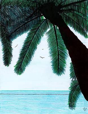 Drawing - Sanibel - Beach - Vacation by D Hackett