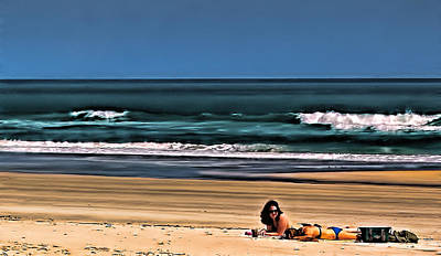 At The Beach Art Print by Dave Bosse