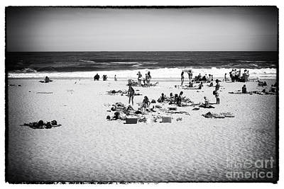 At The Beach Art Print by John Rizzuto