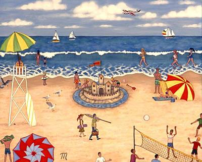 At The Beach Art Print by Linda Mears