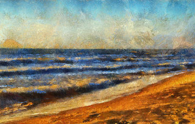 At The Beach Photo Art 06 Art Print by Thomas Woolworth