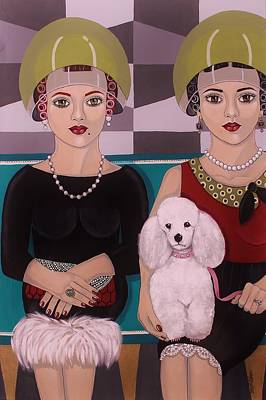 At The Beauty Salon Art Print by Stephanie Cohen