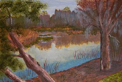At The Bend On The Ocklawaha  Art Print by Warren Thompson