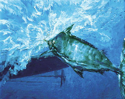 Blue Marlin Photograph - At The Boat, 1976 A Trophy Blue Marlin by Stanley Meltzoff / Silverfish Press