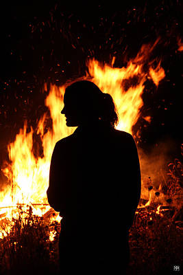 Photograph - At The Bonfire by John Meader