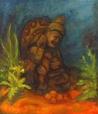 Fantasy Painting - At The Bottom Of The Sea by Sarai Rosario