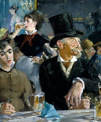 Food And Beverage Painting - At The Cafe Concert by Edouard Manet