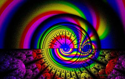 Digital Art - At The Center Of The Rainbow by Naomi Richmond