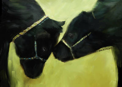 Cow Digital Art - At The County Fair by Ann Powell
