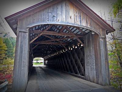Photograph - At The Covered Bridge by MTBobbins Photography