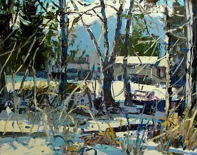 Painting - At The Creek by Brian Simons