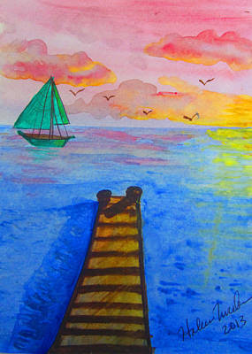 At The Dock Art Print by Haleema Nuredeen