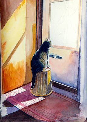 Painting - At The Door by Katherine Miller