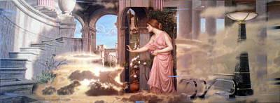 At The Doorway After Waterhouse Art Print by Loren Salazar