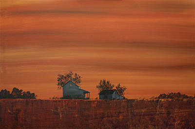 At The Edge Of The Day Art Print by William Renzulli