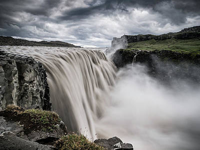 Dettifoss Photograph - At The Edge Of The World by Andreas Wonisch
