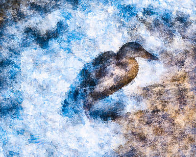 Waterfowl Digital Art - At The Edge by Priya Ghose