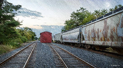 Shed Digital Art - At The End Of The Line by Brian Wallace