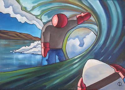 Painting - At The End Of The Tunnel by Olivier Longuet