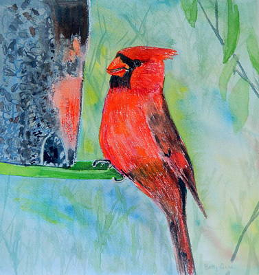 Painting - At The Feeder by Betty-Anne McDonald