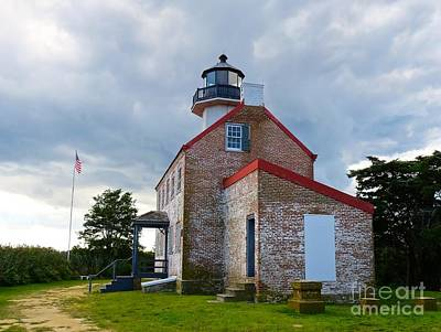Photograph - At The Foot Of East Point Light  by Nancy Patterson