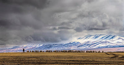 At The Foot Of The Tianshan Mountains Art Print