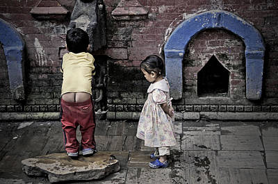 Photograph - At The Fountain by Valerie Rosen