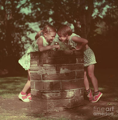 Photograph - At The Fountain by Vintage Photography