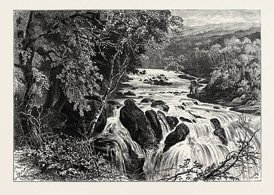 Swallow Drawing - At The Head Of The Swallow Falls, Betws-y-coed by English School