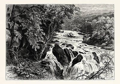 Swallow Drawing - At The Head Of The Swallow Falls, Uk, Britain by English School
